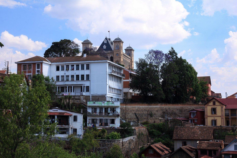 Vista del Queen Palace (Rova), en Antananarivo