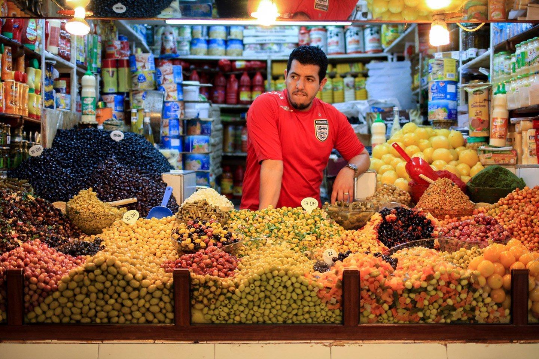 Aceitunas en el Mercado de Tanger.