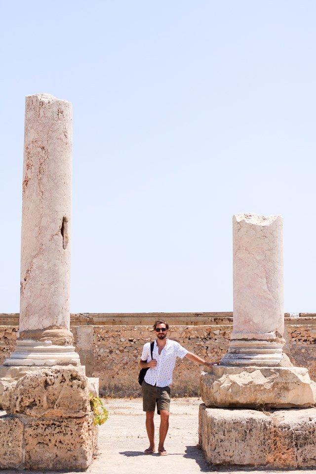 Alberto en las Ruinas de Cartago, Túnez.