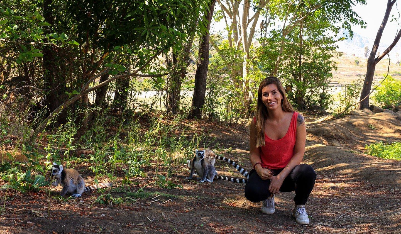 Carla y los lemures en Anja.