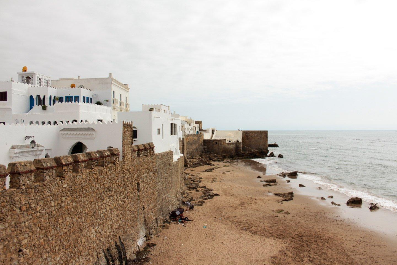 Vista exterior de la medina de Arcila, Marruecos.