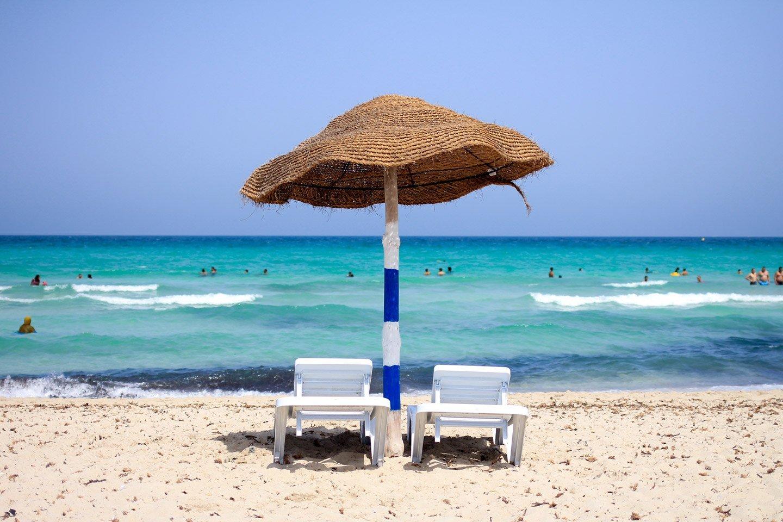 Playa de la isla de Djerba, Túnez.