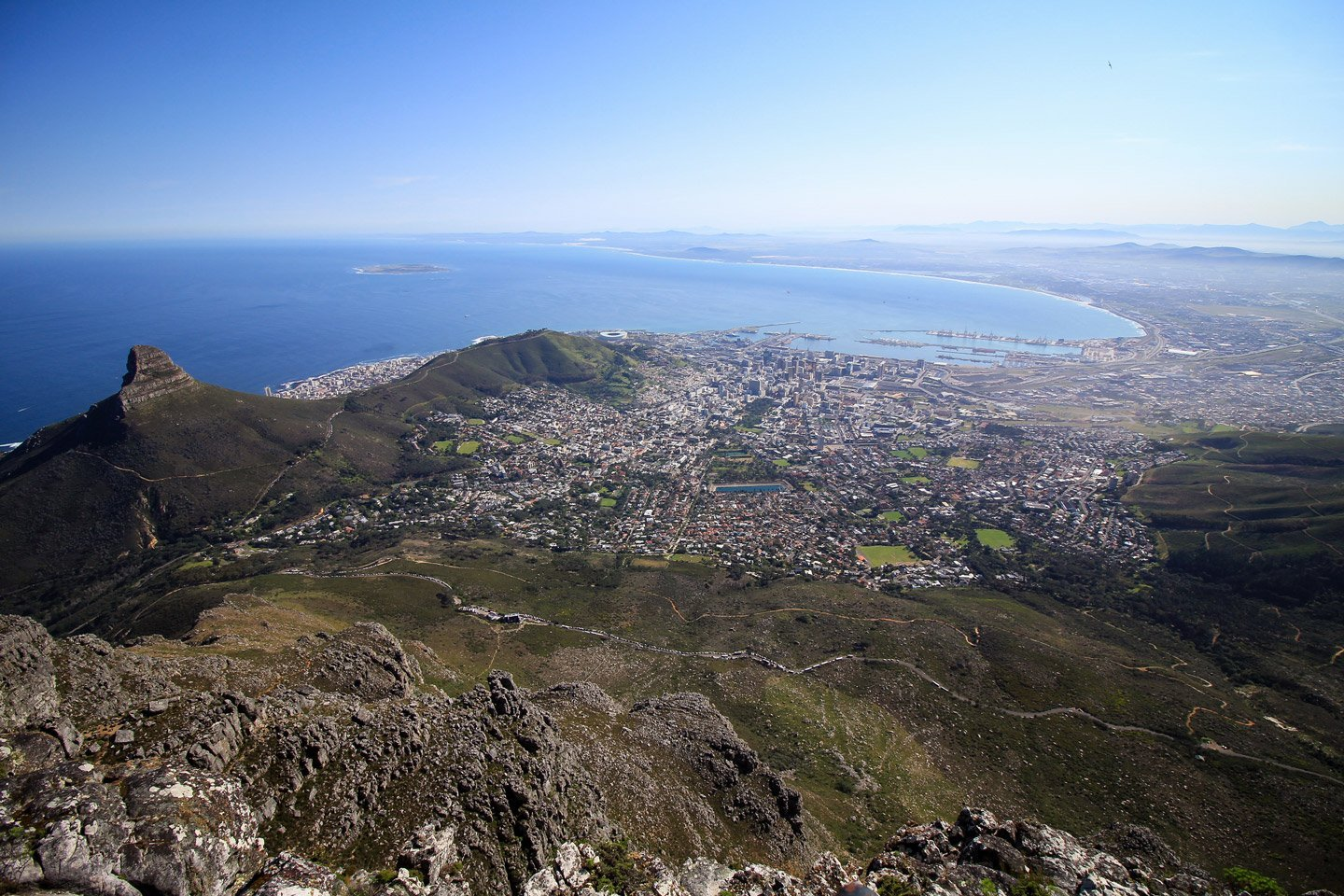 Vista de Cape Town, desde Table Mountain.