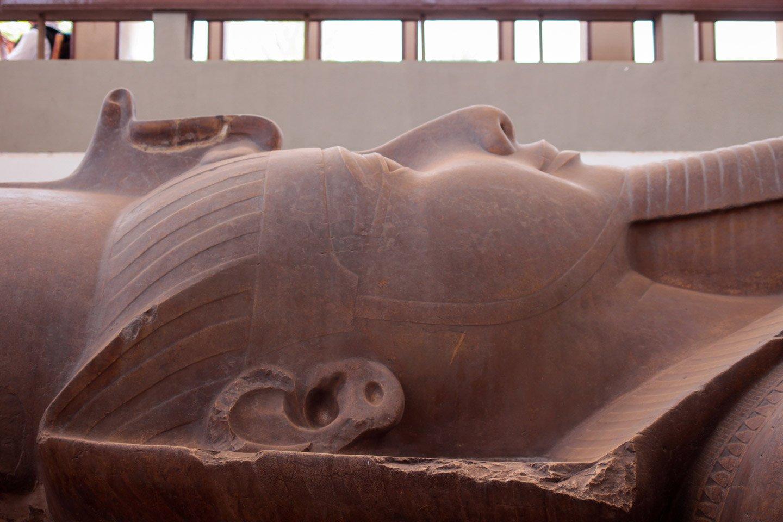 Cabeza coloso de Ramses II.