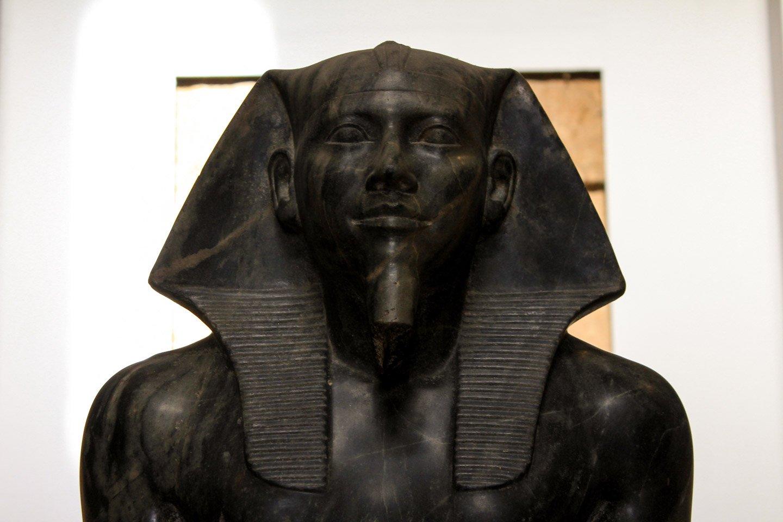 Estatua en el Museo Egipcio de El Cairo.