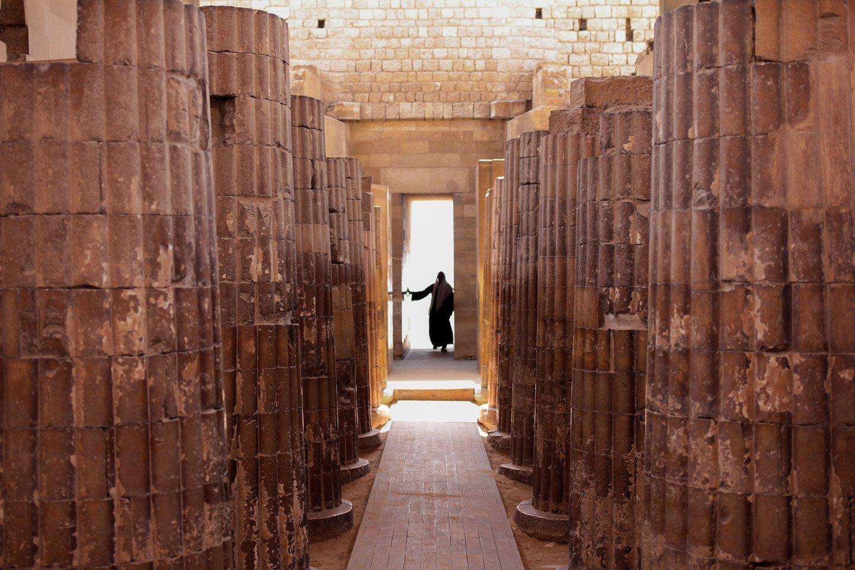 Interior del Templo de Imhotep.