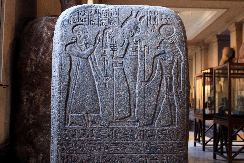 Jeroglíficos en el Museo Egipcio de El Cairo.