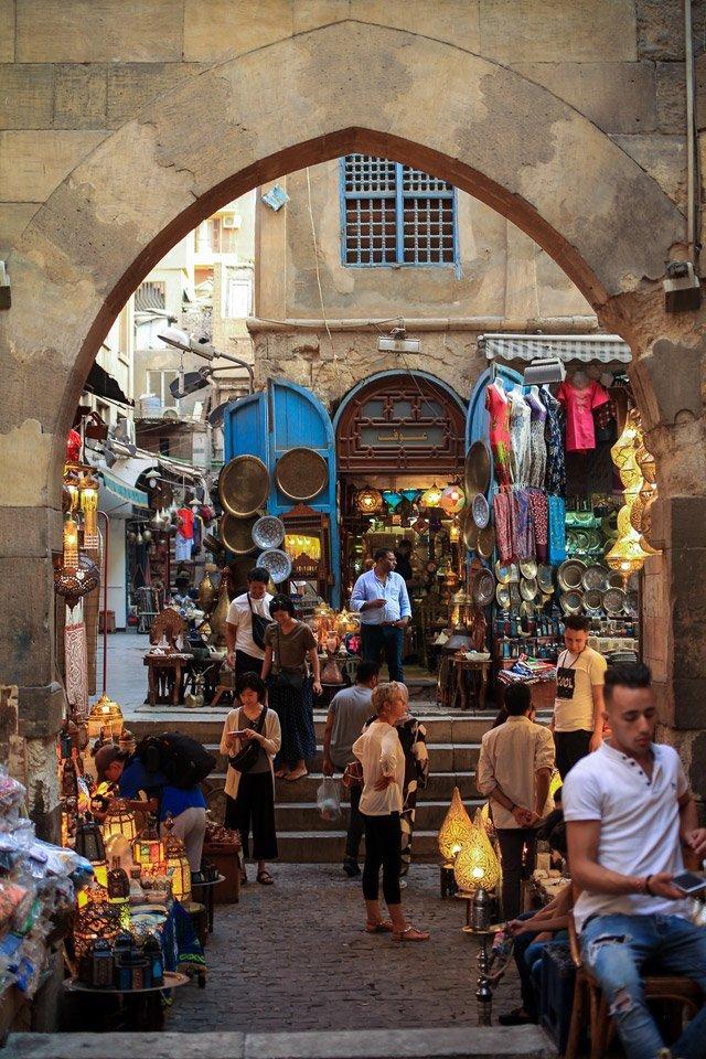 Mercado de Khan el-Khalili.