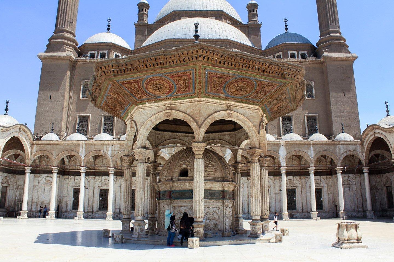 Interior de la Mezquita de Mehmet Ali.