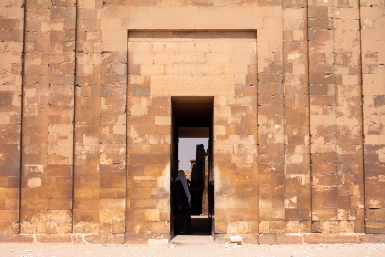 Puerta de entrada al Templo de Imhotep.