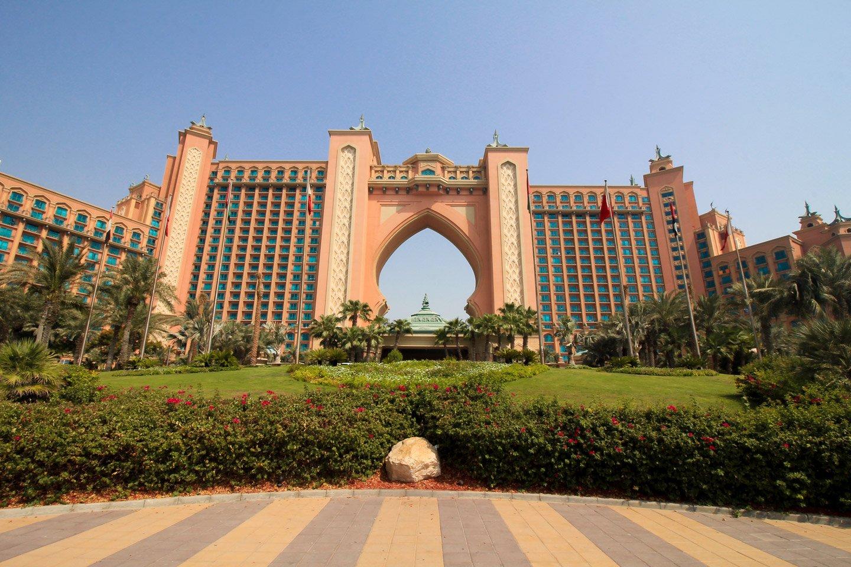 Atlantis Hotel en el Palm Jumeira, Dubai.