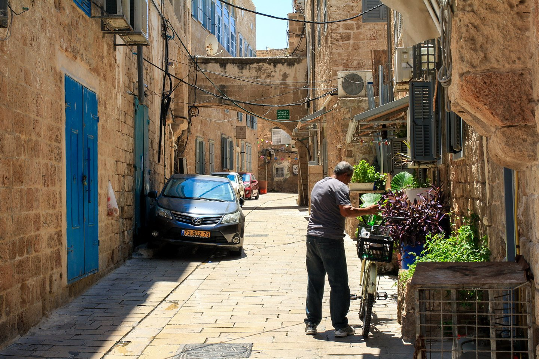 Calles de la Ciudadela de Acre, Israel.