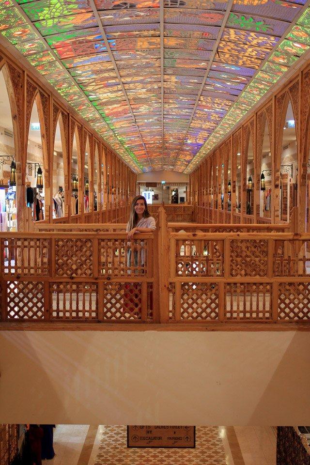 Carla en el WAFI Mall, Dubai.