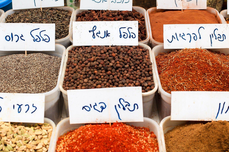 Especias en Acre, Israel.