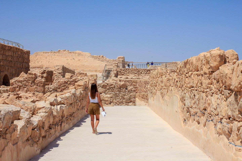 Paseando por las Ruinas de Masada, Israel.