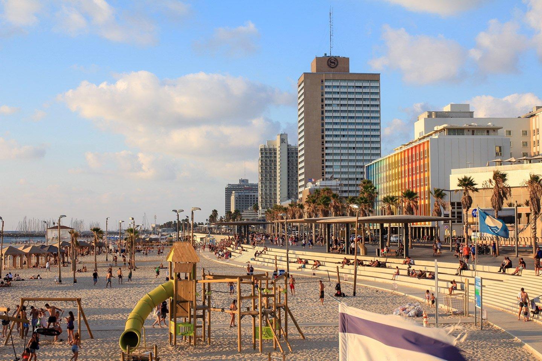 Playa de Tel-Aviv, Israel.