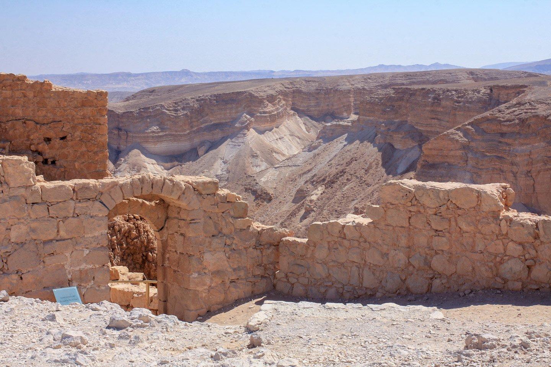 Ruinas de Masada, Israel.