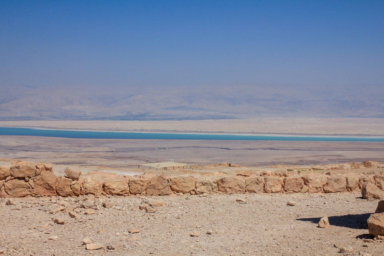 Ruinas de Masada y el Mar Muerto, Israel.