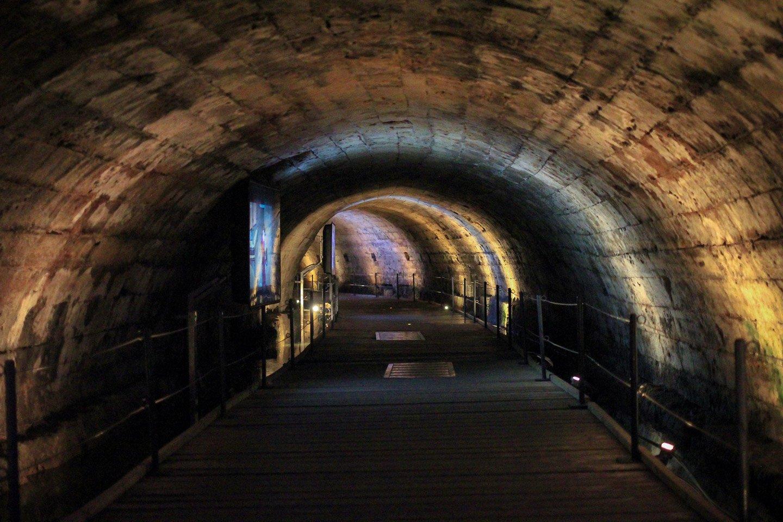 Túneles Templarios en Acre, Israel.