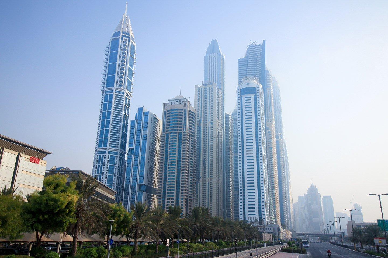 Vista de la ciudad de Dubai, EAU.