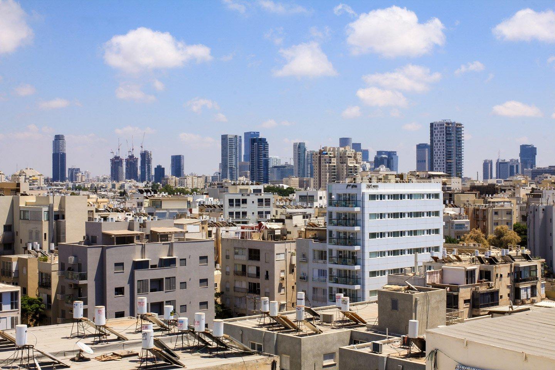 Vista de la Ciudad de Tel-Aviv, Israel.